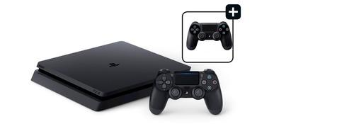 PlayStation 4 Slim - 500 GB, ekstra håndkontroller